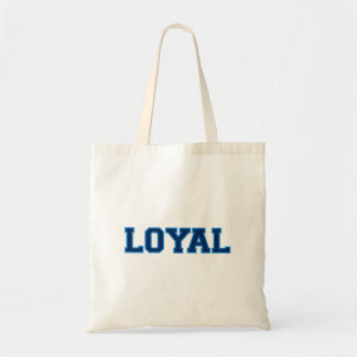 LOYAL in Team Colors Dark and Light Blue  Tote Bags