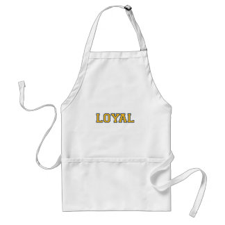 LOYAL in Team Colors Dark Blue and Maize  Adult Apron