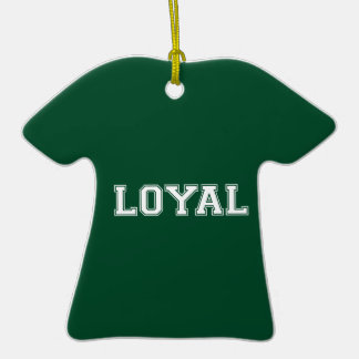 LOYAL in Team Colors Green and White Christmas Tree Ornaments