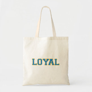 LOYAL in Team Colors Light Blue with Gold  Canvas Bag