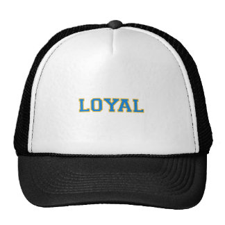 LOYAL in Team Colors Light Blue with Gold  Mesh Hats