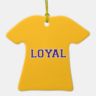 LOYAL in Team Colors Purple and Gold Ornament