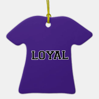 LOYAL in Team Colors Purple Black and White  Christmas Ornament