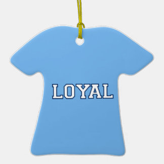 LOYAL in Team Colors Sky Blue and Navy Blue  Christmas Tree Ornaments