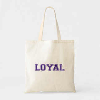 LOYAL in Team Colors White and Royal Purple  Tote Bag
