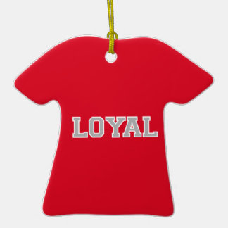 LOYAL in Team Colors White   Christmas Ornaments
