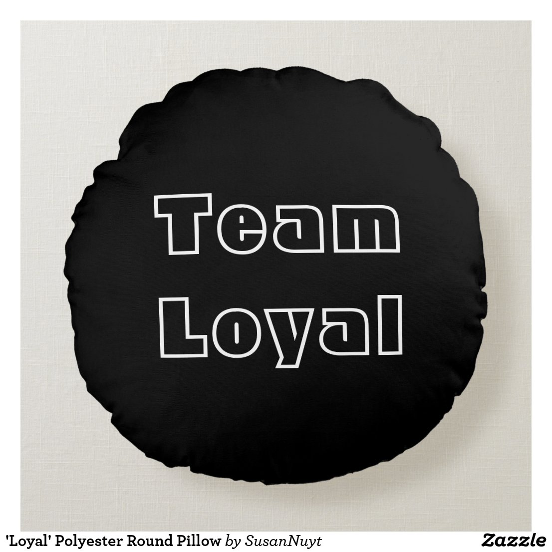 'Loyal' Polyester Round Pillow