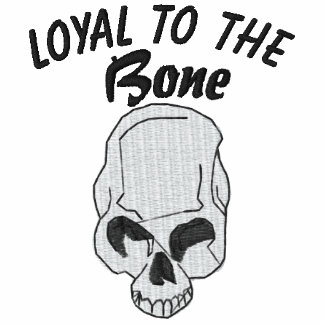 Loyal To The Bone Skull Embroidered Shirt