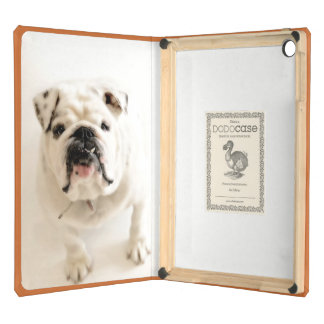 Loyal White Bulldog Photograph iPad Air Cover