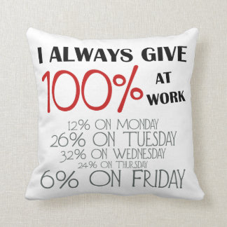 Loyal Worker Funny Post Phrase Pillow