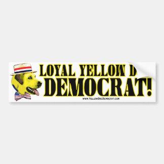Loyal Yellow Dog Democrat Bumper Sticker
