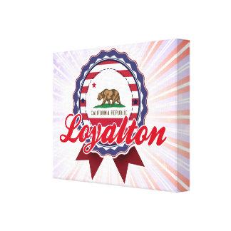 Loyalton, CA Impresión En Lienzo Estirada