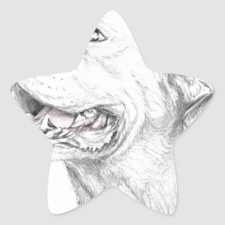 Loyalty, An American Staffordshire Terrier Star Sticker