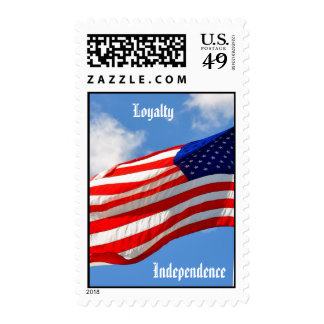 Loyalty and Independence Flag Postage