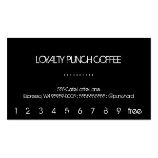 Loyalty Black Coffee Punch-Card Business Card Templates
