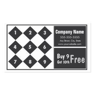 Loyalty Business Card Punch Card