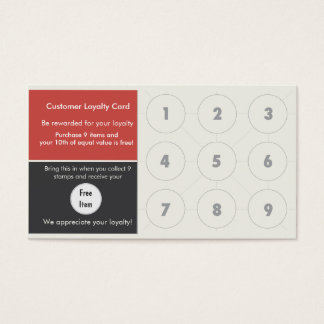 Loyalty Business Card Stamp Card
