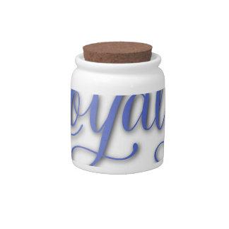 LOYALTY CALLIGRAPHY CANDY JAR