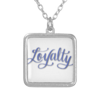 LOYALTY CALLIGRAPHY SILVER PLATED NECKLACE