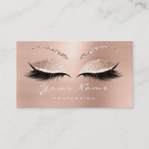 Loyalty Card 10 Makeup Lashes Extension Rose White