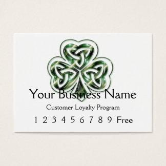 Loyalty Card 2 :: Celtic Shamrock Design 2