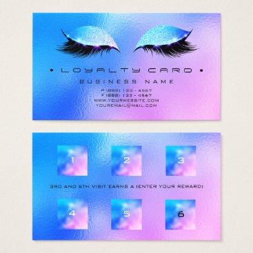 McTiffany Tiffany Aqua Loyalty Card 6 Beauty Salon Makeup Glass Miami
