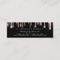 Loyalty Card 6 Punch Makeup Artist Heart Rose Blac