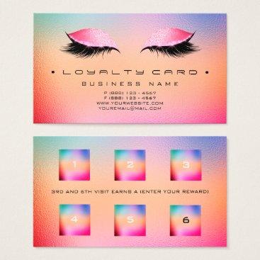 McTiffany Tiffany Aqua Loyalty Card Beauty Salon Makeup Glitter Rainbow