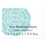 Loyalty Card :: Big Blue Flower Business Card