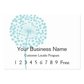 Loyalty Card :: Blue Dandelion Business Cards