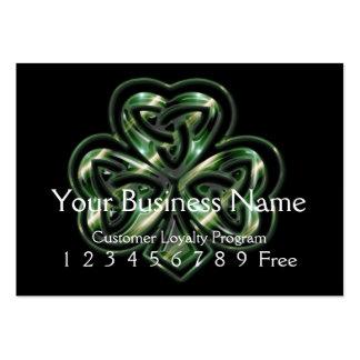 Loyalty Card :: Celtic Shamrock Design 2 Business Cards