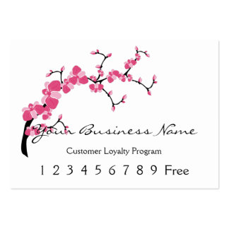 Loyalty Card :: Cherry Blossom Tree Branch Large Business Cards (Pack Of 100)