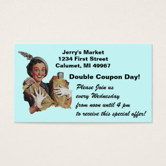 Loyalty Card Double Coupon Grocery Store Promotion