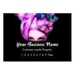 Loyalty Card :: Purple Hair Butterfly Lady Business Card Template