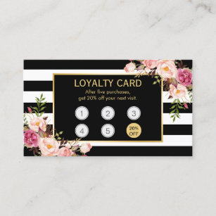 Loyalty business cards templates zazzle loyalty card vintage gold floral beauty salon colourmoves