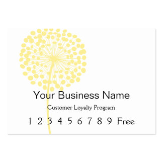 Loyalty Card Yellow Dandelion Business Cards