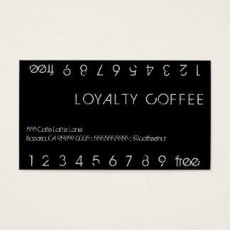 Loyalty Coffee Double Punch Card
