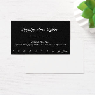 Loyalty Coffee Elegant Punch-Card Business Card