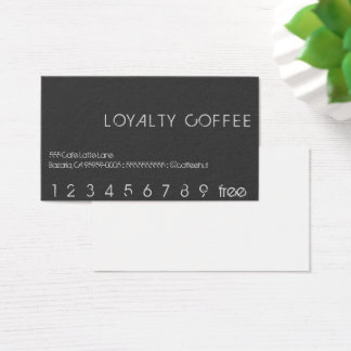 Loyalty Coffee Punch Card
