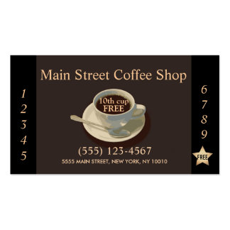 Loyalty Coffee Punch Card Business Card