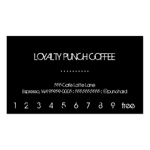 Loyalty Coffee Punch-Card Business Card Template