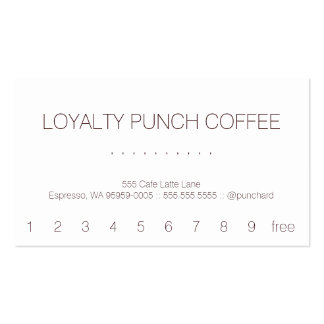 Loyalty Coffee Punch-Card Double-Sided Standard Business Cards (Pack Of 100)