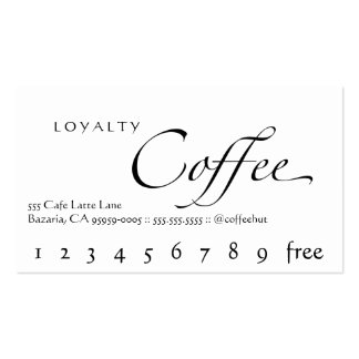 Loyalty Coffee Punchcard Double-Sided Standard Business Cards (Pack Of 100)