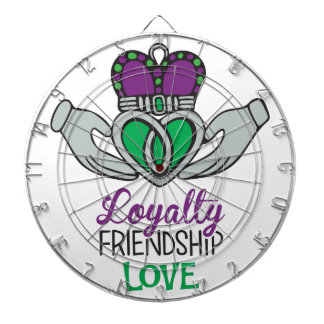 Loyalty Friendship Love Dartboard With Darts