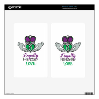 Loyalty Friendship Love Kindle Fire Skin