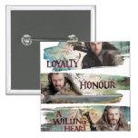 Loyalty, Honor, A Willing Heart 2 Inch Square Button