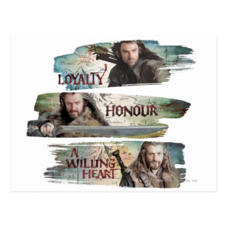 Loyalty, Honor, A Willing Heart Postcard