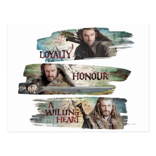 Loyalty, Honor, A Willing Heart Postcards