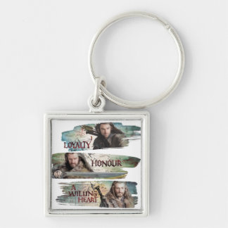 Loyalty, Honor, A Willing Heart Silver-Colored Square Keychain