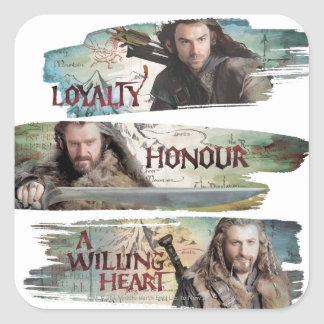 Loyalty, Honor, A Willing Heart Square Sticker